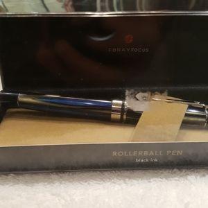 Forayfocus black ink.new blue gray pen
